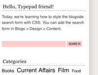 blogside search