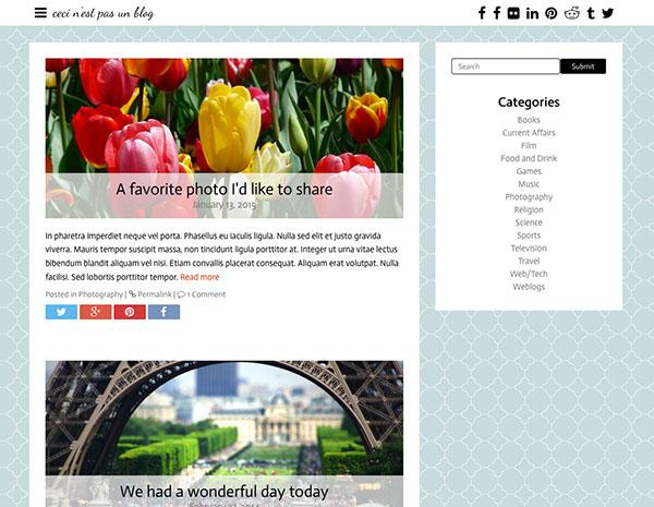 Blog with banner hidden